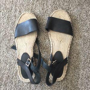 Shoes - Cute black espadrille sandals